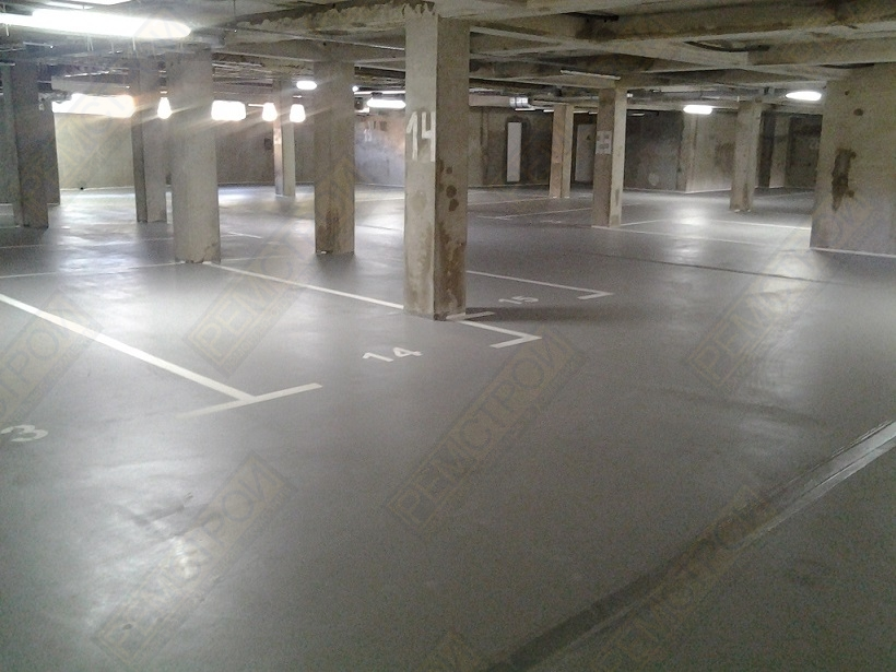 бетон автостоянка